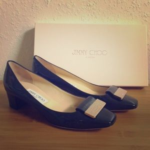 Jimmy Choo - Patent leather navy 247 iris shoes